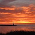 Dramatic Flaming Sunset by Susan Wyman