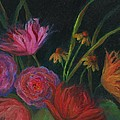 Dramatic Floral Still Life Painting by Mary Wolf