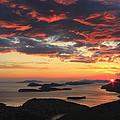 Dramatic Sunset Over Dubrovnik Croatia by Ivan Pendjakov
