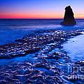 Dramatic Sunset View Of A Sea Stack In Davenport Beach Santa Cruz. by Jamie Pham