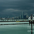 Dramatic Thunderstorm Over Navy Pier Chicago by Linda Matlow