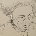 Drawing Of A Woman by Jolante Hesse
