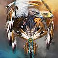 Dream Catcher - Three Eagles by Carol Cavalaris