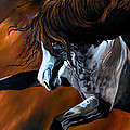 Dream Horse Series 155 - Wild Mustang Pawing The Air by Cheryl Poland