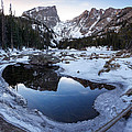 Dream Lake Reflection Square Format by Aaron Spong