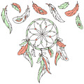Dreamcatcher, Feathers. Vector by Laata9