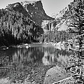 Dreaming At Dream Lake - Black And White by Harold Rau