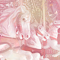 Dreamy Baby Pink Merry Go Round Carousel Horses - Pink Carousel Horses Baby Girl Nursery Decor by Kathy Fornal