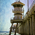 Dreamy Day At Huntington Beach Pier by Joan Carroll