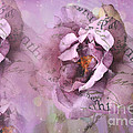 Dreamy Purple Lavender Impressionistic Abstract Floral Art Photography by Kathy Fornal