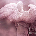 Dreamy Surreal Ethereal Pink Angel Art Wings by Kathy Fornal