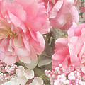 Dreamy Pink Roses, Shabby Chic Pink Roses - Romantic Roses Peonies Floral Decor by Kathy Fornal