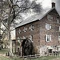 Dreary Skies At Kerr Gristmill by Adam Jewell