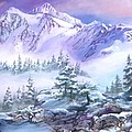 Dressed In White Mount Shuksan by Sherry Shipley