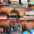 Dressmaking Supplies And Sewing Machine by Susan Savad