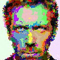 Dr. House Portrait - Abstract by Samuel Majcen