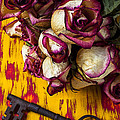 Dried Pink Roses And Key by Garry Gay