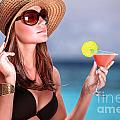 Drink Cocktail On The Beach by Anna Om