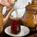 Drinking Traditional Turkish Tea by Leyla Ismet