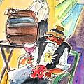 Drinking Wine In Lanzarote by Miki De Goodaboom