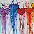Dripping Hearts by Maria Iurescia
