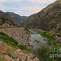 Driving Through Wind River Canyon by John Malone