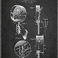 Droop Hand  Drum Patent Drawing From 1892 - Dark by Aged Pixel