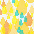 Drops Of Sunshine- Abstract Painting by Linda Woods