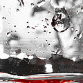 Drops Of Water With Red by Anthony Doudt