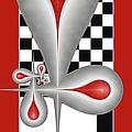 Drops On A Chess Board by Gabiw Art