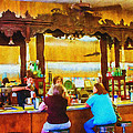 Drugstore Soda Fountain - Impressionism by Barry Jones