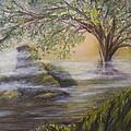 Druid's Altar At Mystic River by Brenda Salamone