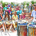 Drum Circle Of Friends by John Haldane