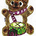 Drummer Teddy by Shaunna Juuti