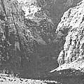 Dry Desert Waterfall Pencil Rendering by Frank Wilson