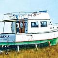 Dry Docked Cabin Cruiser by Rick Mock