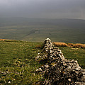 Drystone Wall  Misty Day Kettlewell Wharfedale North Yorkshire England by Michael Walters