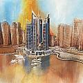 Dubai Marina Complex by Corporate Art Task Force