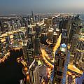Dubai Marina Twilight by Robert Work