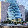 Dublin Convention Centre Republic Of Ireland by Liz Leyden