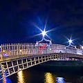 Dublin - Ha'penny Bridge  by Alex Art and Photo