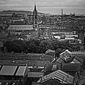 Dublin Ireland Cityscape Bw by Joseph Semary