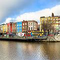 Dublin River Liffey Panorama by Mark E Tisdale