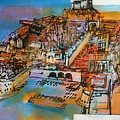 Dubrovnik - Ulje Na Platnu 80x100cm by Saso  Petrosevski Novak - SPN