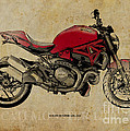 Ducati Monster 1200 - 2014 by Drawspots Illustrations