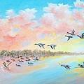 Ducks Two by Dennis Vebert