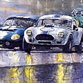 Duel Ac Cobra And Shelby Daytona Coupe 1965 by Yuriy Shevchuk