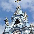 Duernstein Blue Baroque Church Bell Tower by Menega Sabidussi