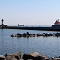 Duluth Harbor Lighthouses  by George Jones
