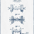 Dumbbell Patent Drawing From 1927  -  Blue Ink by Aged Pixel